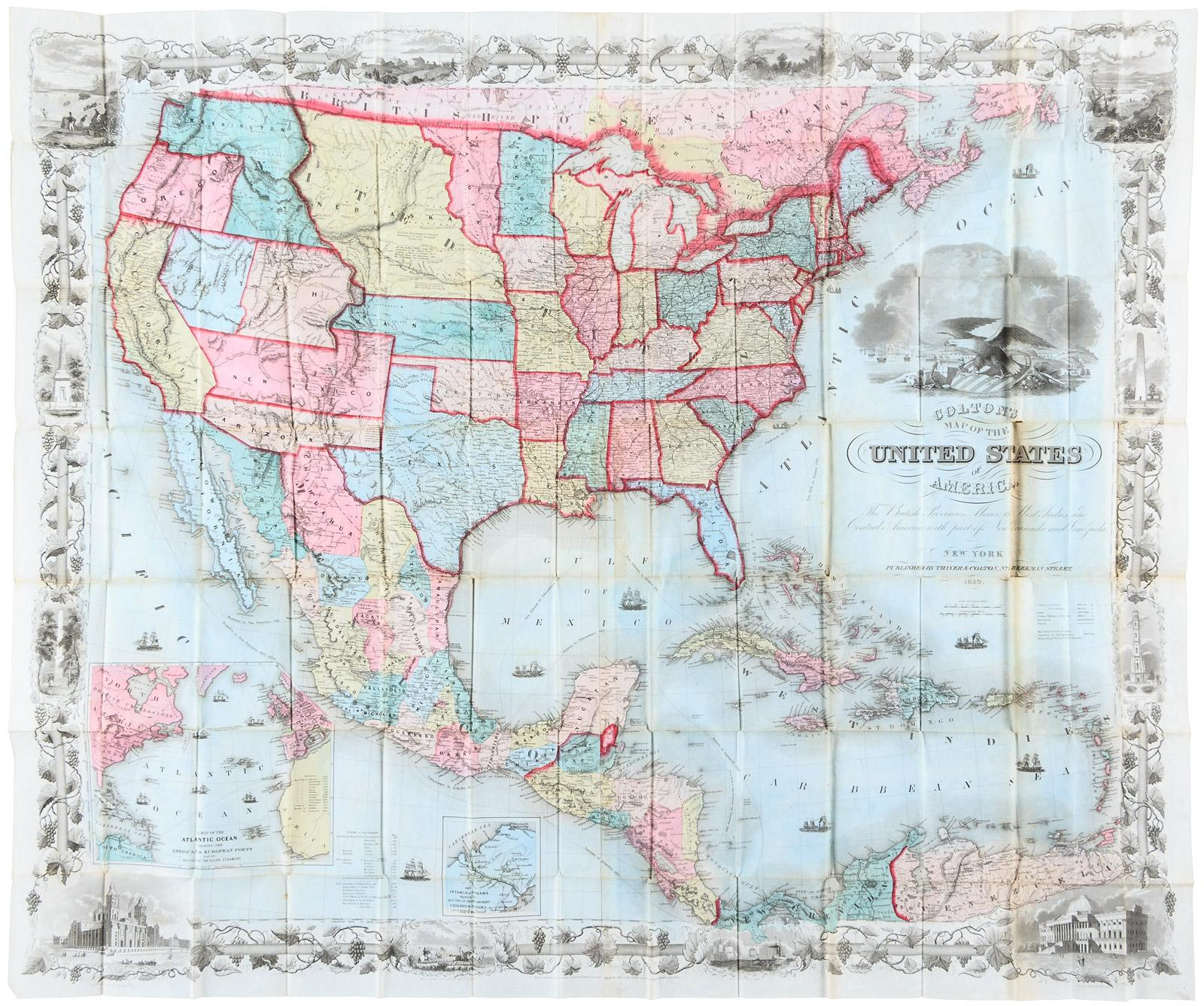 Map of the United States of America, The British Provinces, Mexico ...