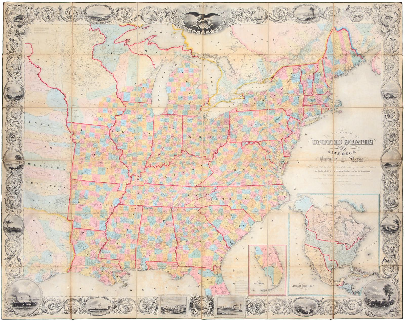 Map Of The United States Including Canada And A Large Portion Of - Us map including canada