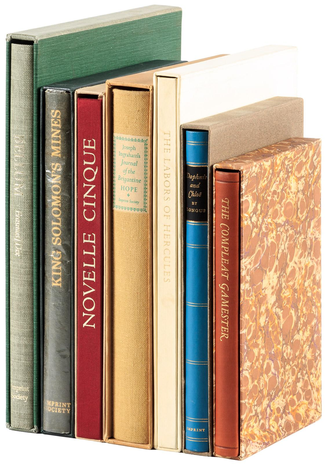 Seven classic works reprinted by the Imprint Society - Price