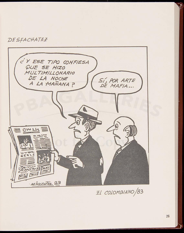 Pablo Escobar Gaviria En Caricaturas 1983 1991 Price Estimate 15000 25000