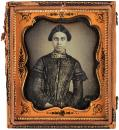 Daguerreotype of a Spanish or Hispanic American woman