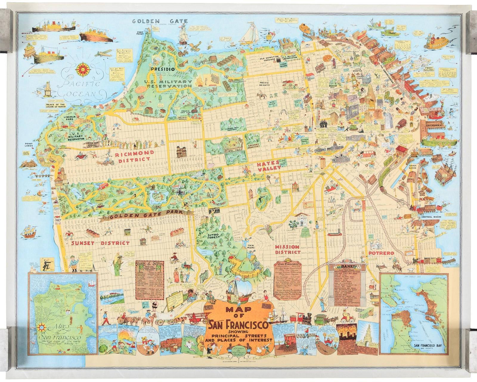 Map of San Francisco Showing Prinl Streets and Places of ... San Francisco Tourist Map on hyannis tourist map, napa tourist map, long beach tourist map, nuevo vallarta tourist map, ketchikan alaska tourist map, boise tourist map, otaru tourist map, malmo tourist map, graz tourist map, lausanne tourist map, fort worth tourist map, tainan tourist map, traverse city tourist map, wiesbaden tourist map, sarasota tourist map, ft. lauderdale tourist map, pasadena tourist map, charlotte tourist map, santa cruz tourist map, pacific northwest tourist map,