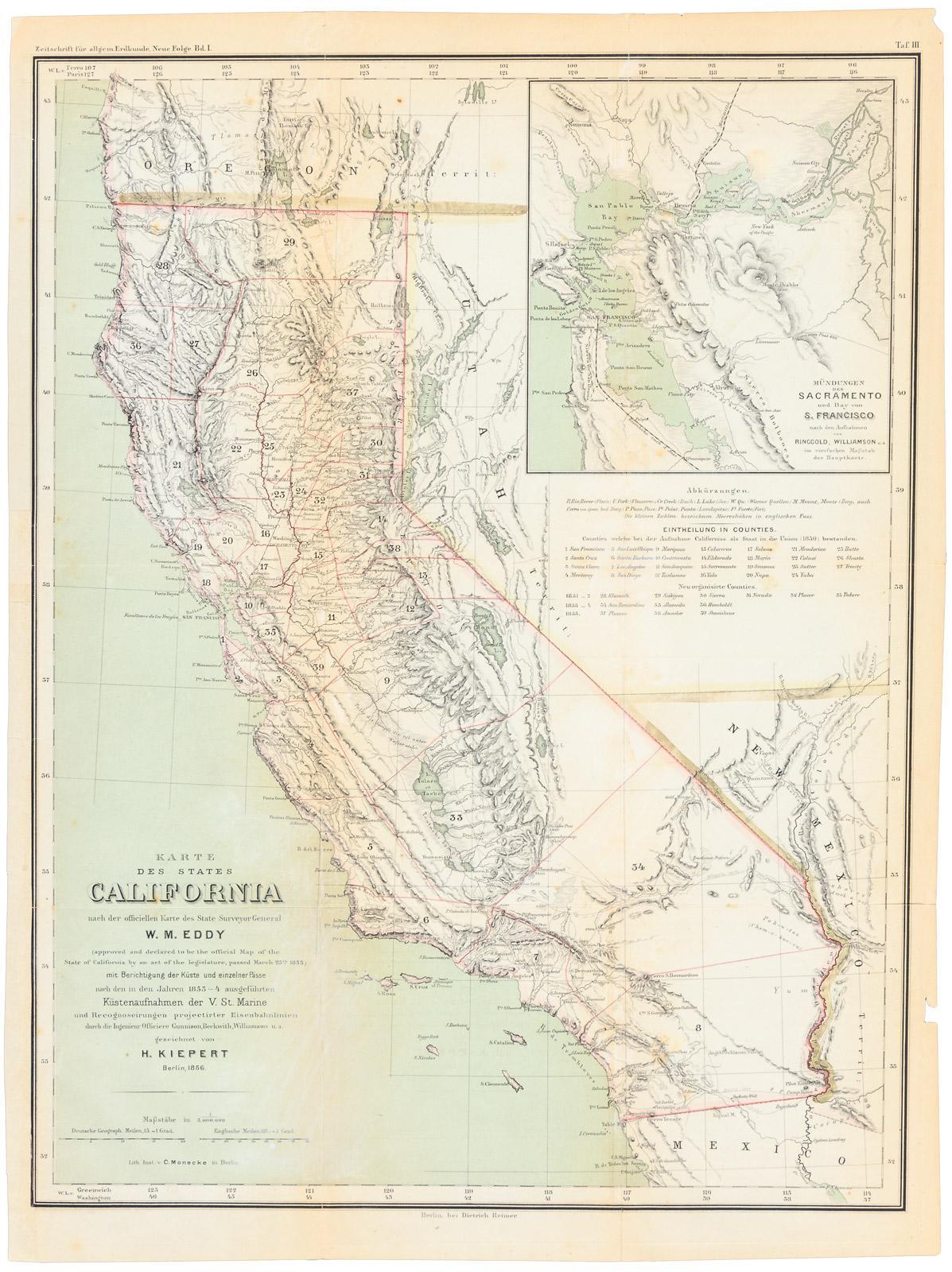 Karte Des States California Nach Der Officiellen Karte Des State