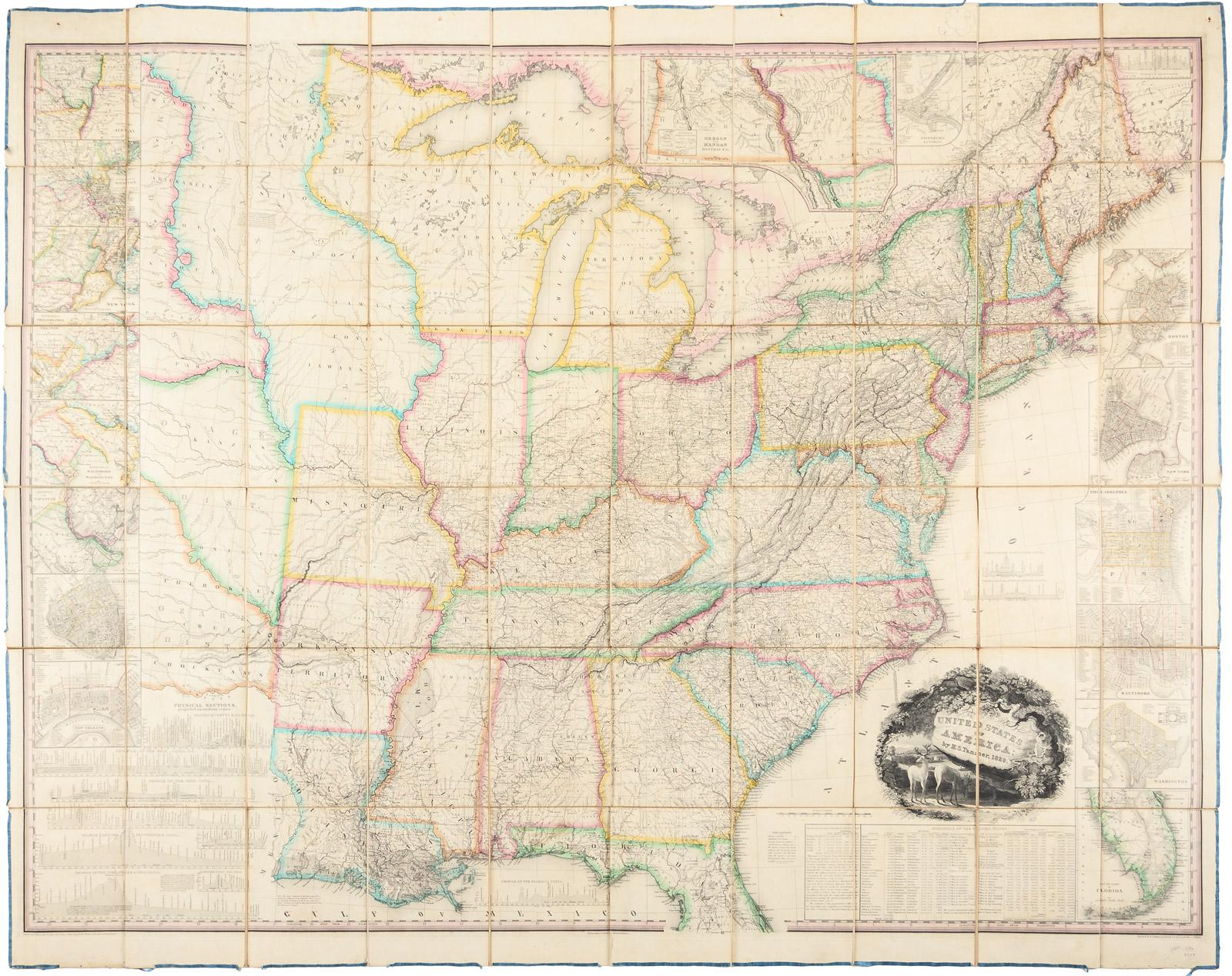 United States Of America By HS Tanner Price Estimate - 1829 us map
