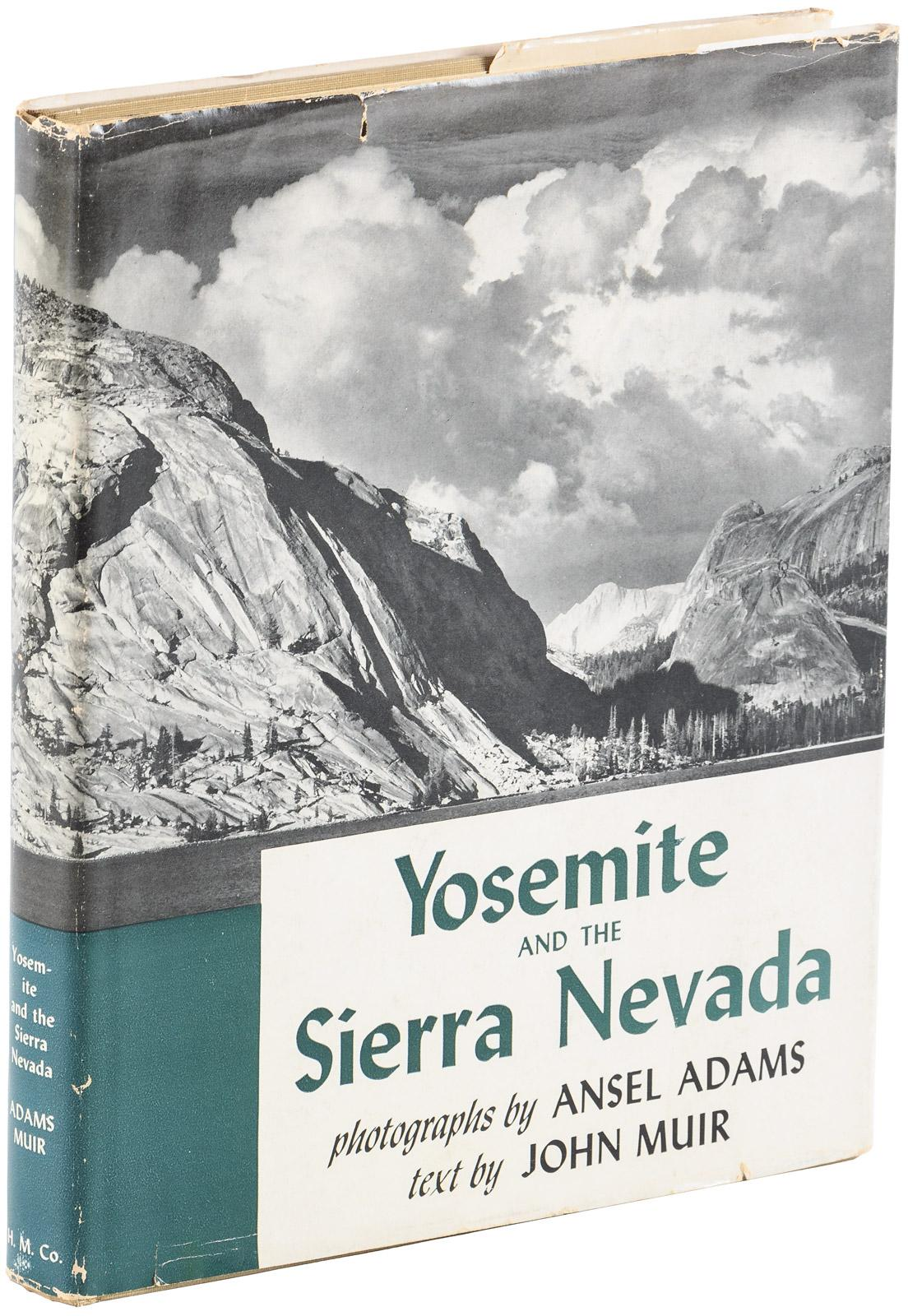 yosemite and the sierre nevada photographs by ansel adams selections from the works of john muir