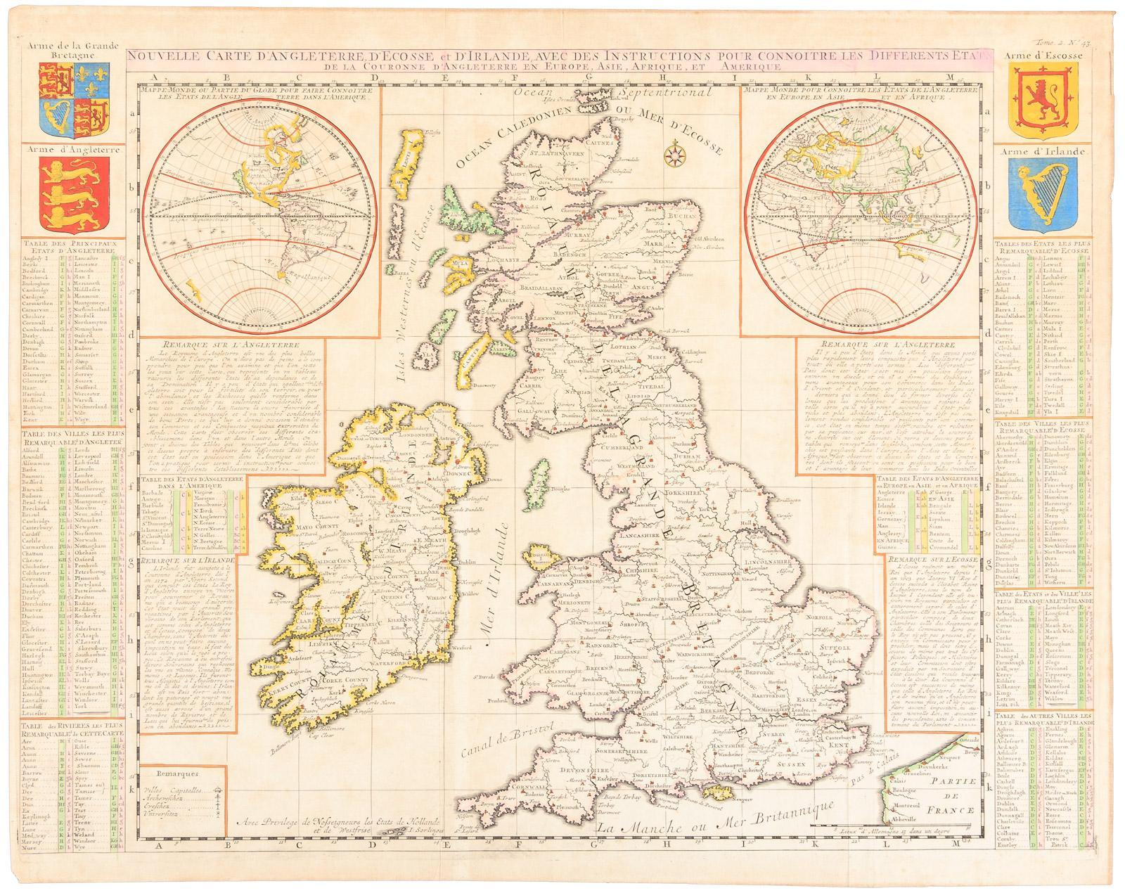 Carte Angleterre Ecosse.Nouvelle Carte D Angleterre D Ecosse Et D Irlande Avec