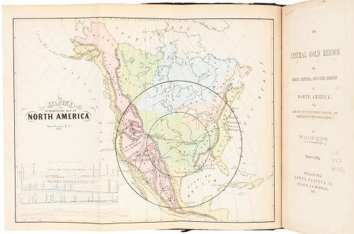 The Central Gold Region. The Grain, Pastoral, and Gold Regions of North...