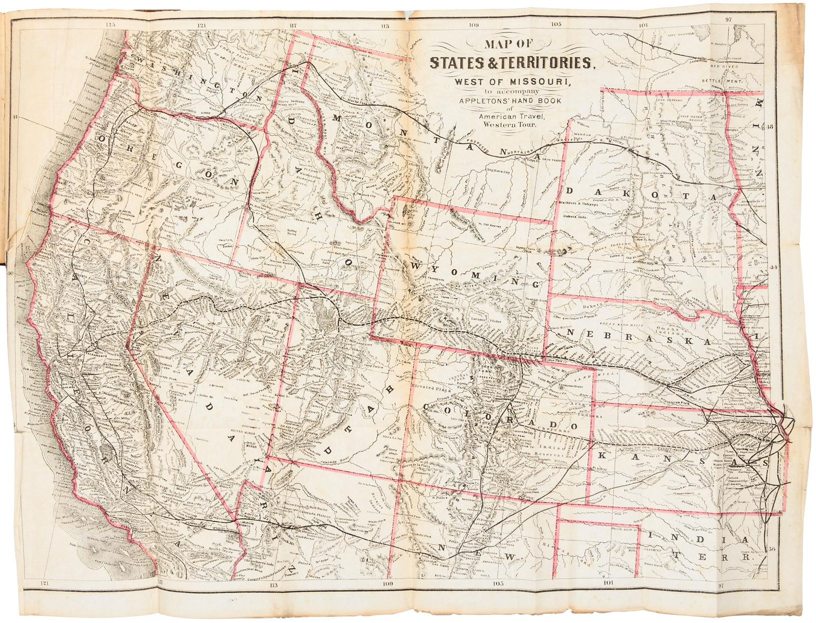 Far West Missouri Map.Appletons Hand Book Of American Travel Western Tour Embracing