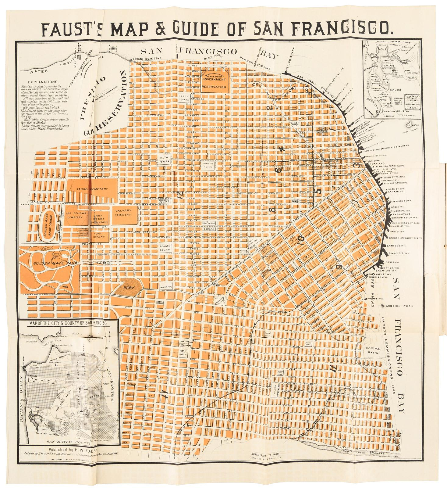 Fausts Map Guide of San Francisco Price Estimate 300 500
