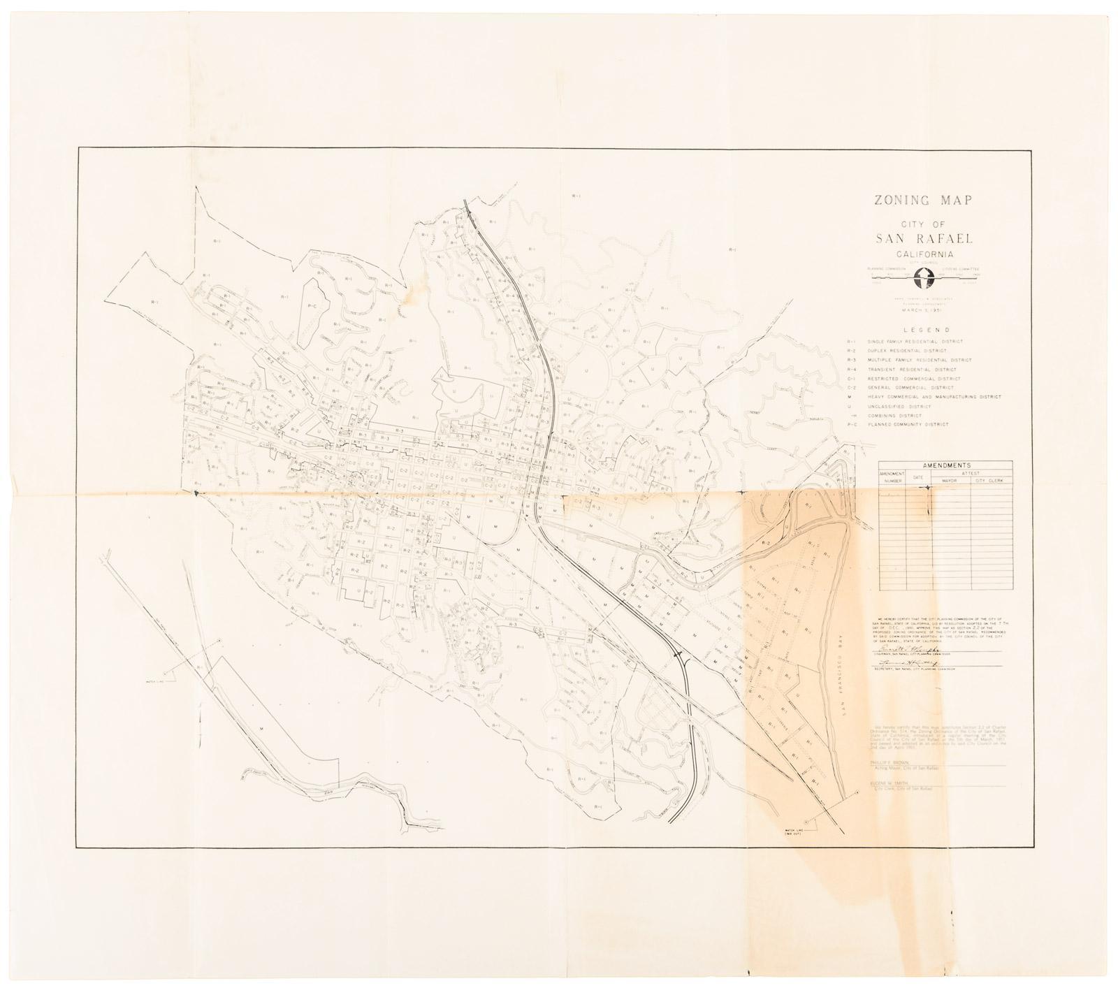 Zoning Map City Of San Rafael California Price Estimate 400 600