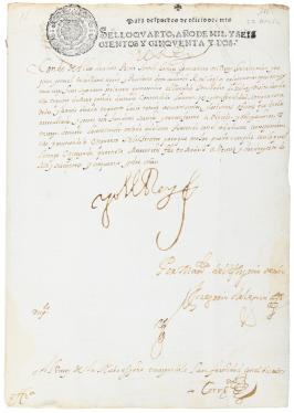 Archive of 26 manuscript letters signed by King Philip IV of Spain, to Luis...