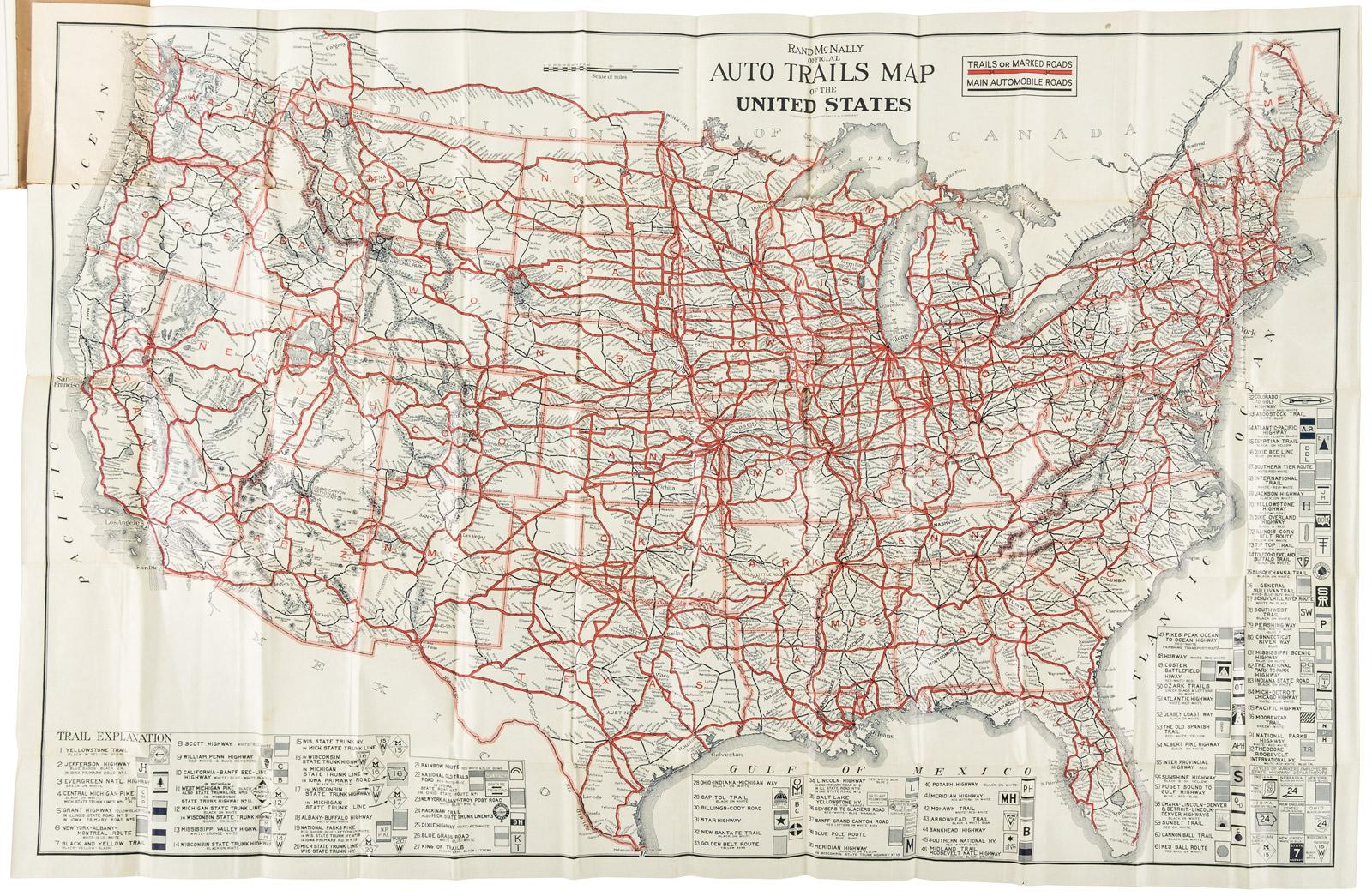 Rand McNally official auto trails map of the United States ... on usa map with states, map of us cell phone radiation, please name 52 states, united states 52 states, name all 52 states, accurate of usa states, 52 american states, list 52 states, was there ever 52 states, time zone for 52 states,