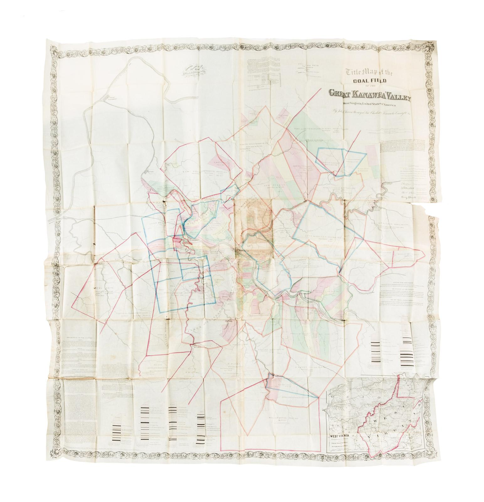 Virginia United States Map.Title Map Of The Coal Field Of The Great Kanawha Valley West