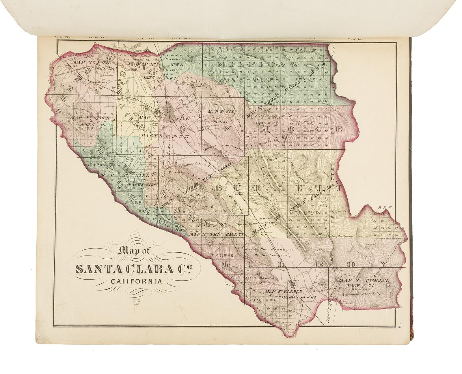 Historical Atlas Map of Santa Clara County, California - Price ... on