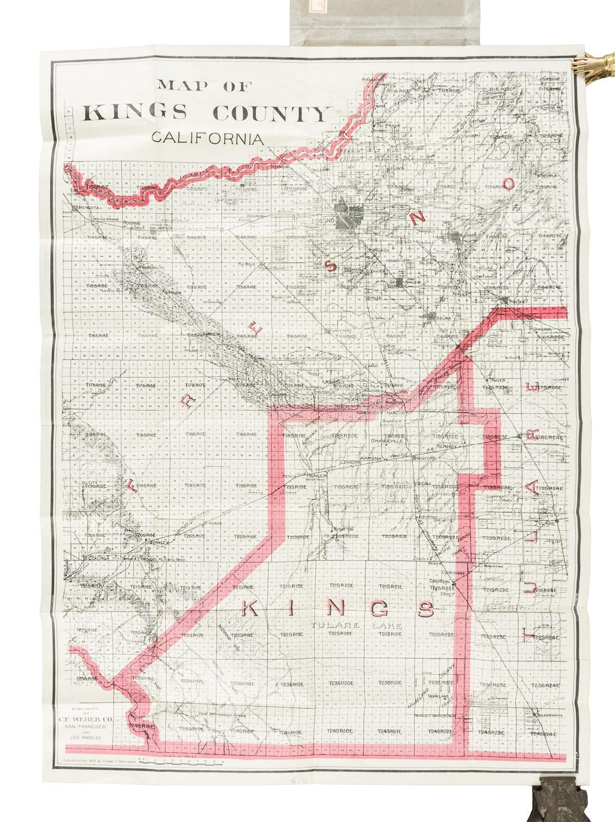 Kings County California Map.Map Of Kings County California Price Estimate 600 900