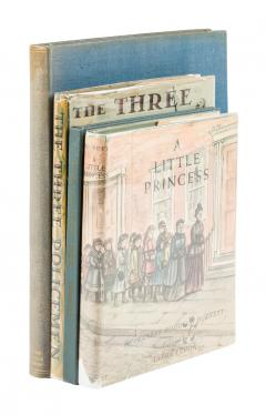 Four illustrated books, three of them signed by the artists