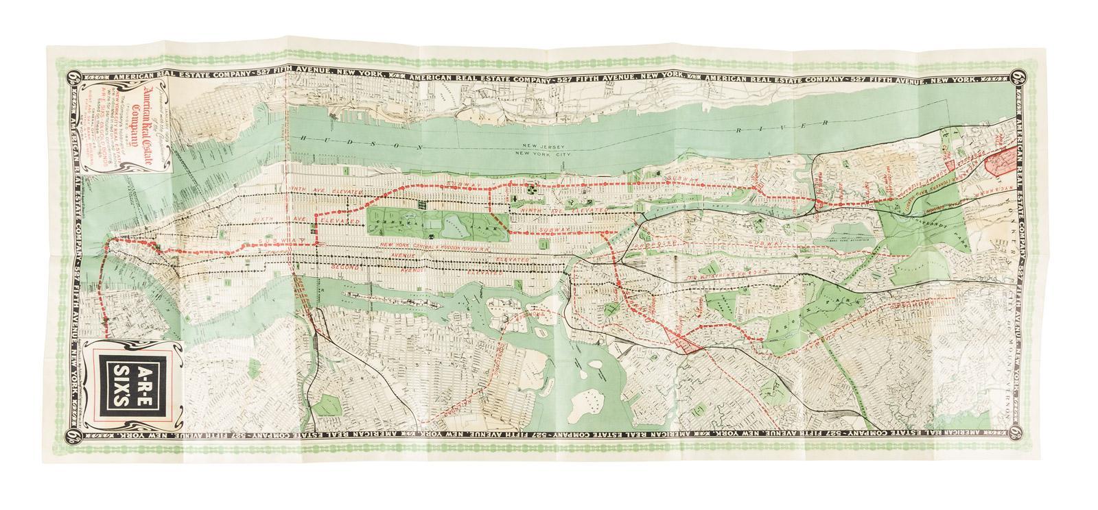Map Of New York For Sale.A R E Six S Color Map Of New York City Price Estimate 700 1000