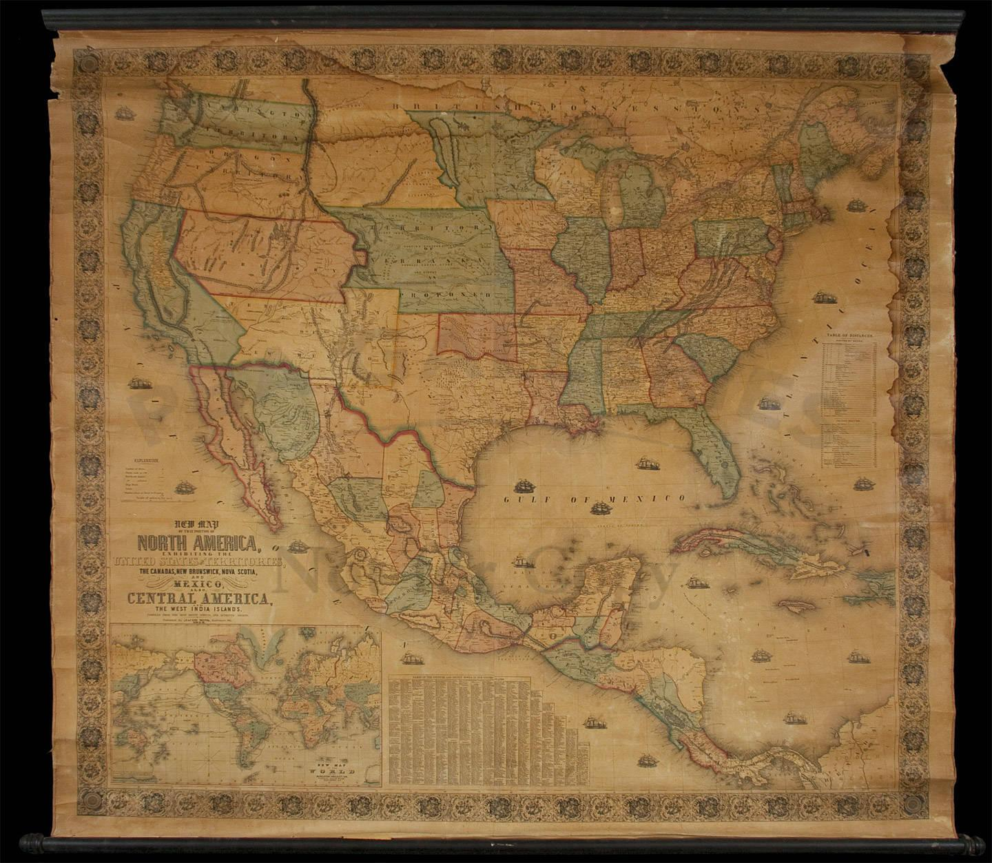 New Map of that Portion of North America, Exhibiting the United ...