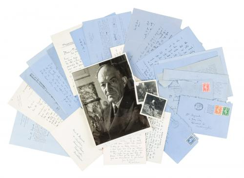 Large collection of works and letters by Walter de la Mare, some inscribed