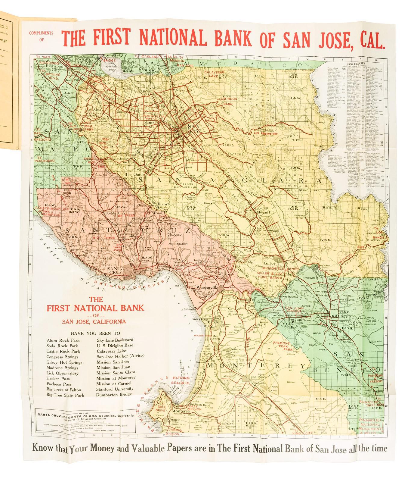 Map of Santa Cruz and Santa Clara counties, California :and parts of California Map Santa Clara on