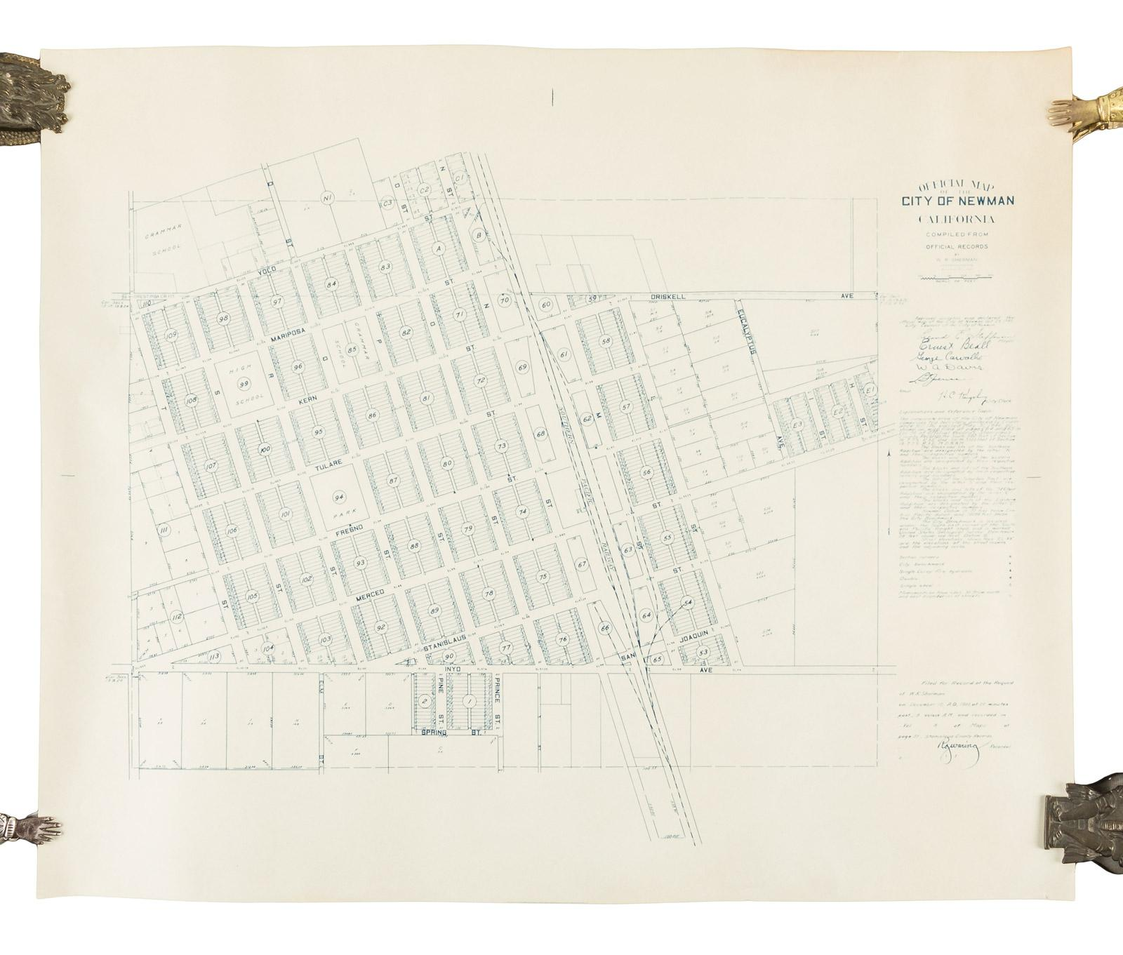Newman California Map.Official Map Of The City Of Newman California Price Estimate