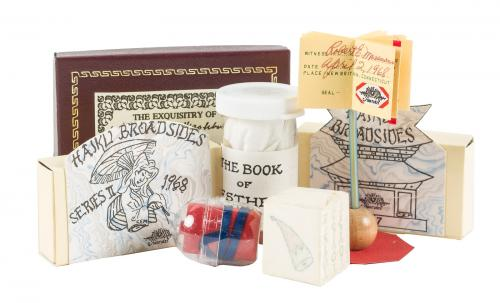 Fifty-nine miniature books from REM Miniatures