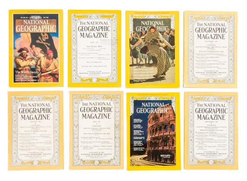 Large collection of magazines featuring illustrations by N.C. Wyeth