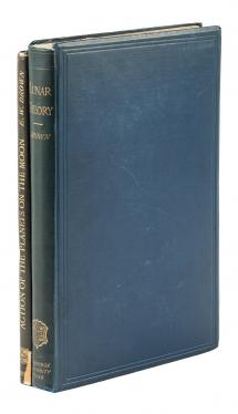 Two volumes on lunar motion by Ernest W. Brown