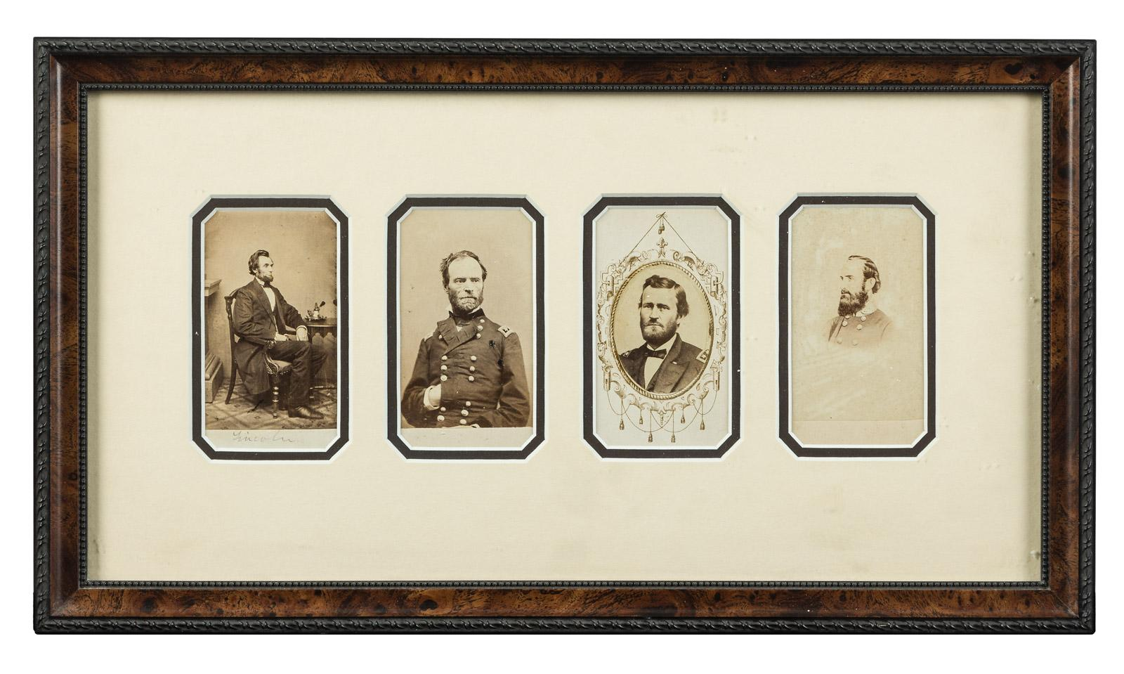 Carte De Visite Portraits Of Abraham Lincoln William Tecumseh