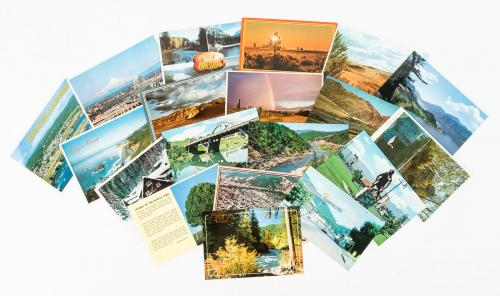 Large collection of color picture postcards featuring views from various...