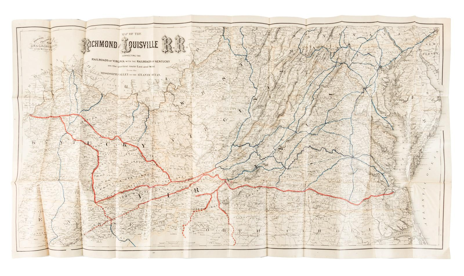 Map of the Richmond and Louisville R.R. Connecting the Railroads of Eastern Kentucky Railroad Map on illinois railroad, montana railroad, florida railroad, texas railroad, cincinnati railroad, maine railroad, utah railroad, louisville railroad, ek railroad, houston railroad, california railroad, hawaii railroad, wisconsin railroad, kansas railroad,