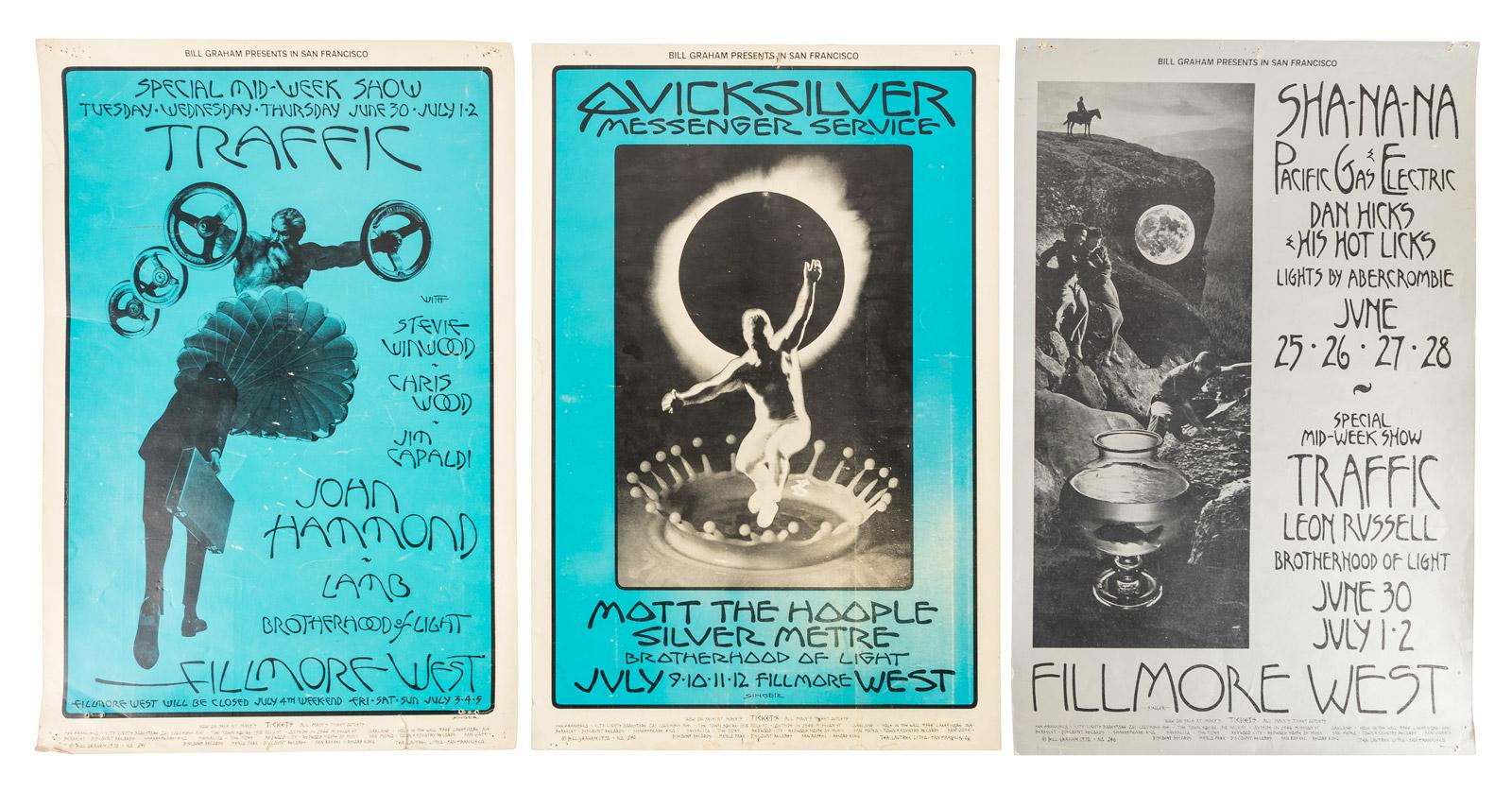 Four Bill Graham Fillmore posters with artwork by David