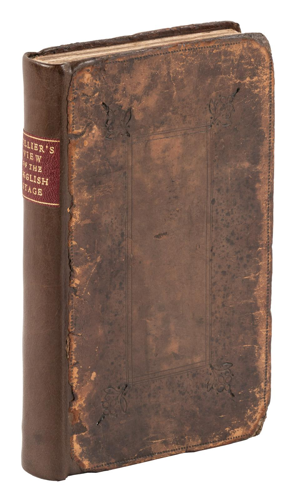 A short view of the immorality and profaneness of the English stage:  together with the sense of antiquity upon this argument - Price Estimate:  $300 - $500
