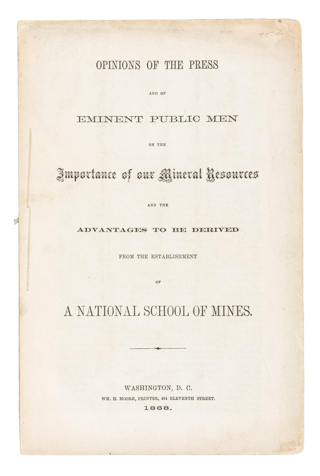 Opinions of the press and of eminent public men on the