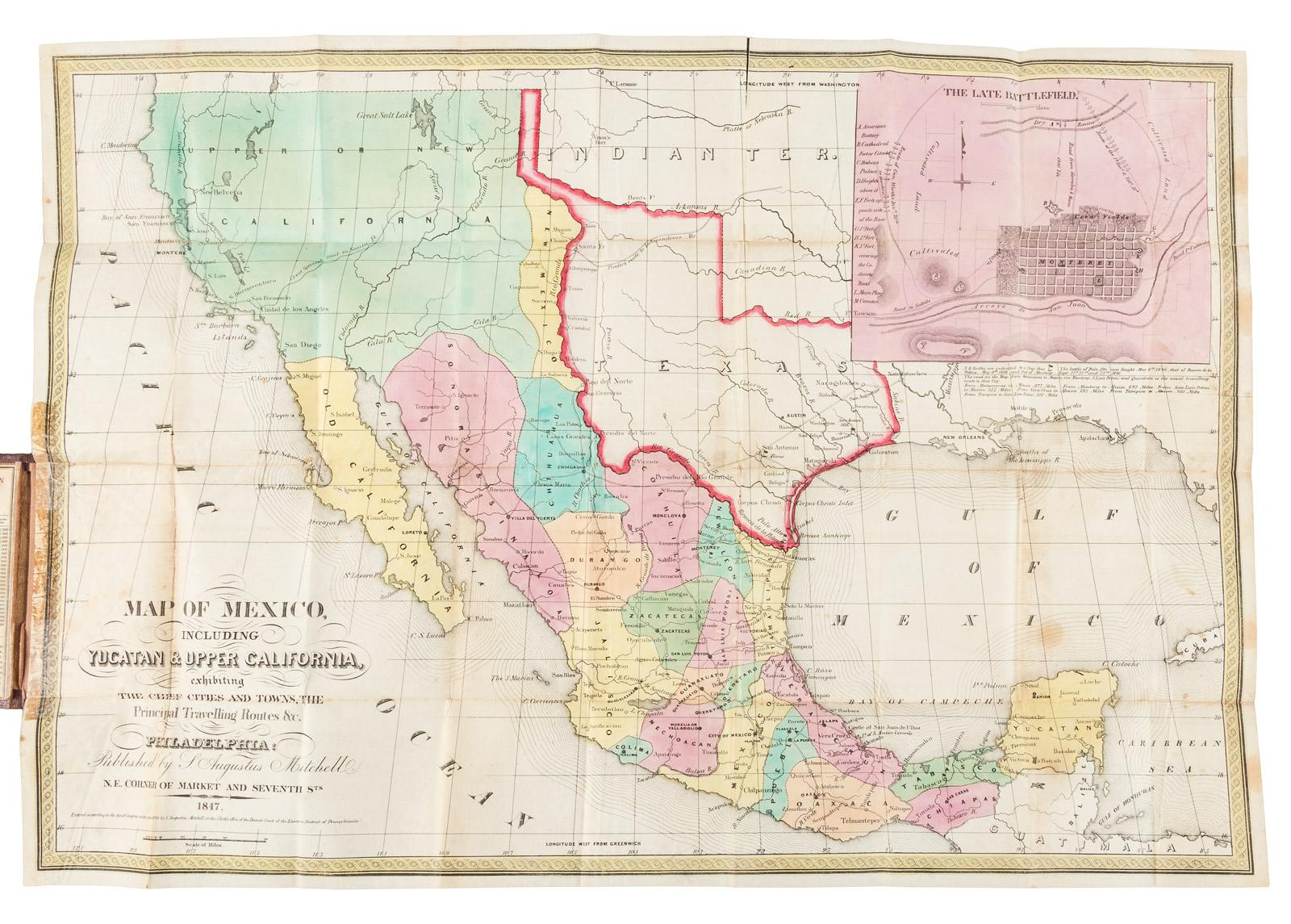 Map Of California Towns And Cities.Map Of Mexico Including Yucatan Upper California Exhibiting The