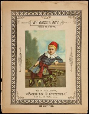 Two pieces of sheet music from early Benicia, California Bookseller Wm. D...