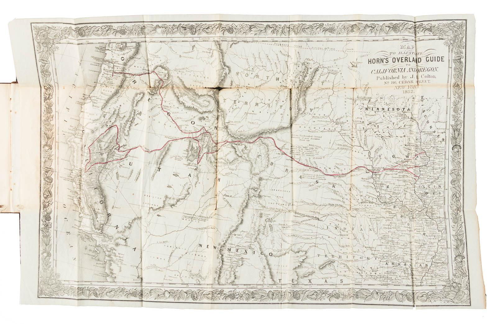 Horns Overland Guide From The Us Indian Sub Agency Council - Us-map-missouri-river