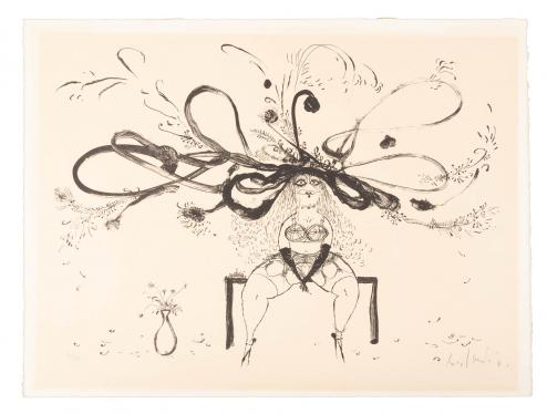 Lithograph signed by Ronald Searle, 41/50