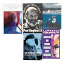 Five signed volumes by Lawrence Ferlinghetti