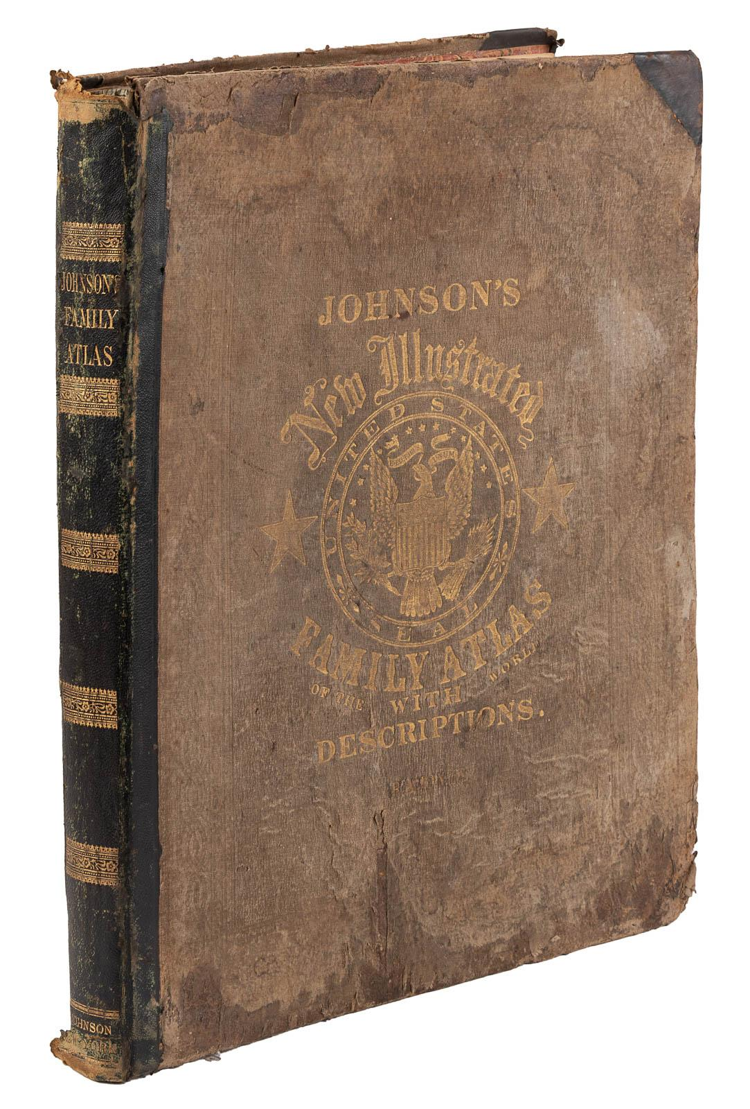 Johnson's New Illustrated Family Atlas of the World   With