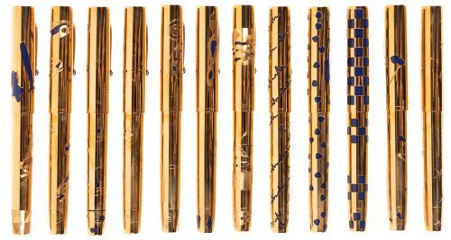 OMAS UNICEF Set of 24 18K GOLD Ltd Fountain Pens