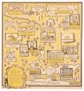 """Being a map of central California, showing some of the people, places and events that had to do with our early days. Wells Fargo Bank & Union Trust Co., San Francisco, Established 76 years ago, in 1852"""