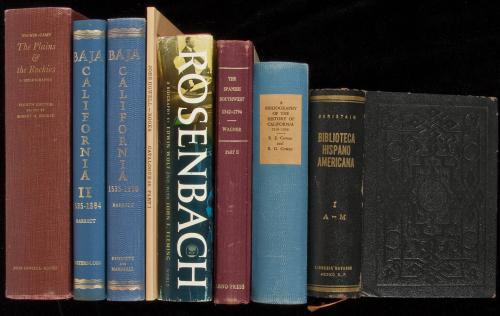 Large group of bibliographies and books about books, mostly Americana