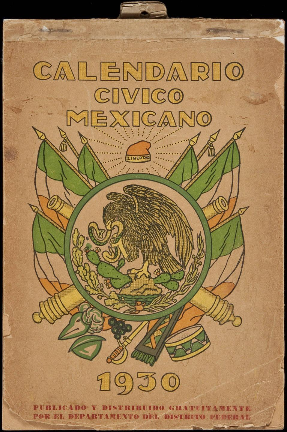 Calendario 1930.Calendario Civico Mexicano 1930 Price Estimate 300 500