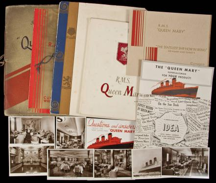 Large group of items relating to the R.M.S. Queen Mary