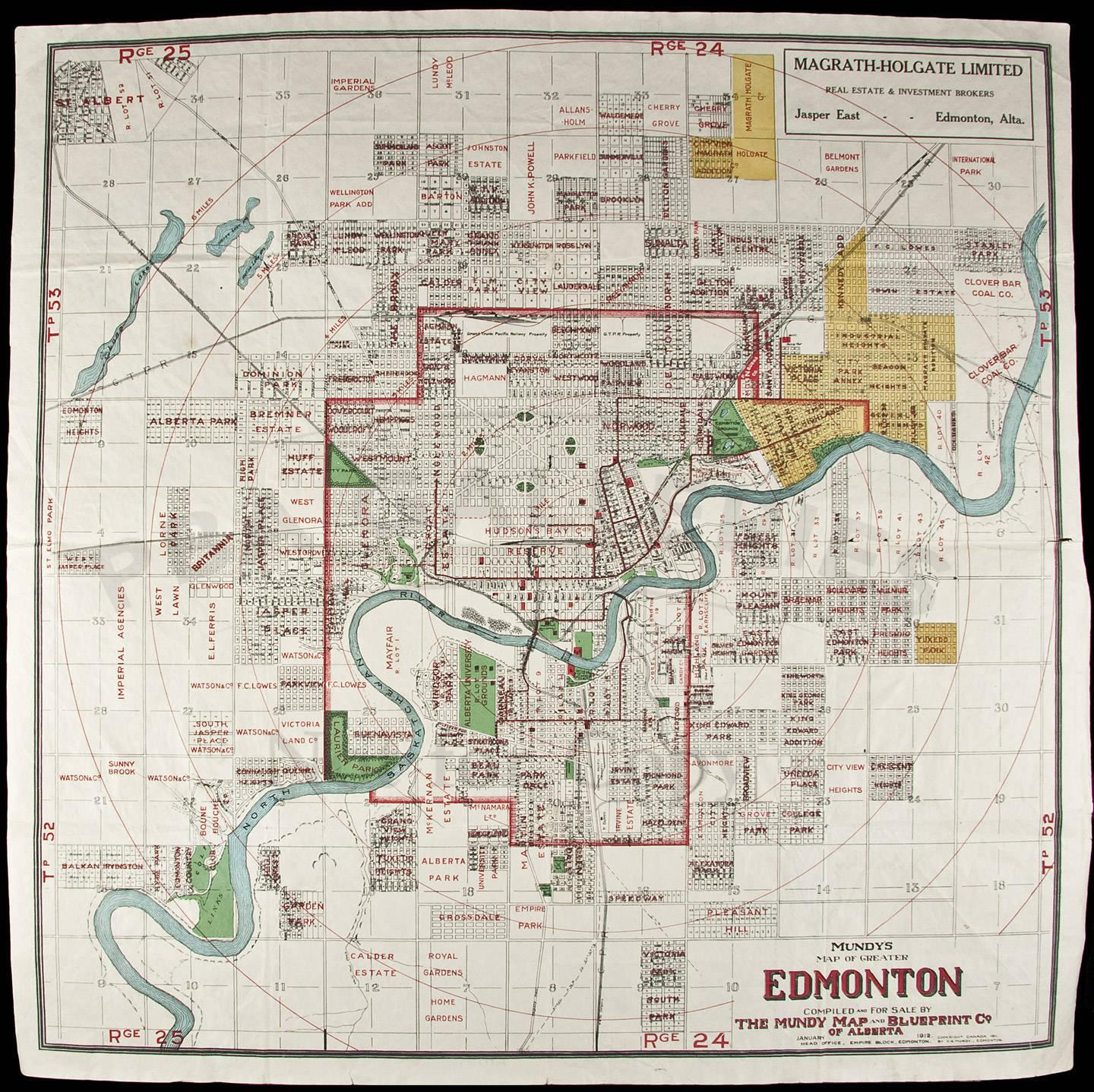 Mundys map of greater edmonton compiled and for sale by the mundy mundys map of greater edmonton compiled and for sale by the mundy map and blueprint co of alberta price estimate 300 500 malvernweather Images