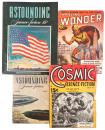 4 Science Fiction periodical stories with early appearances of space terminology