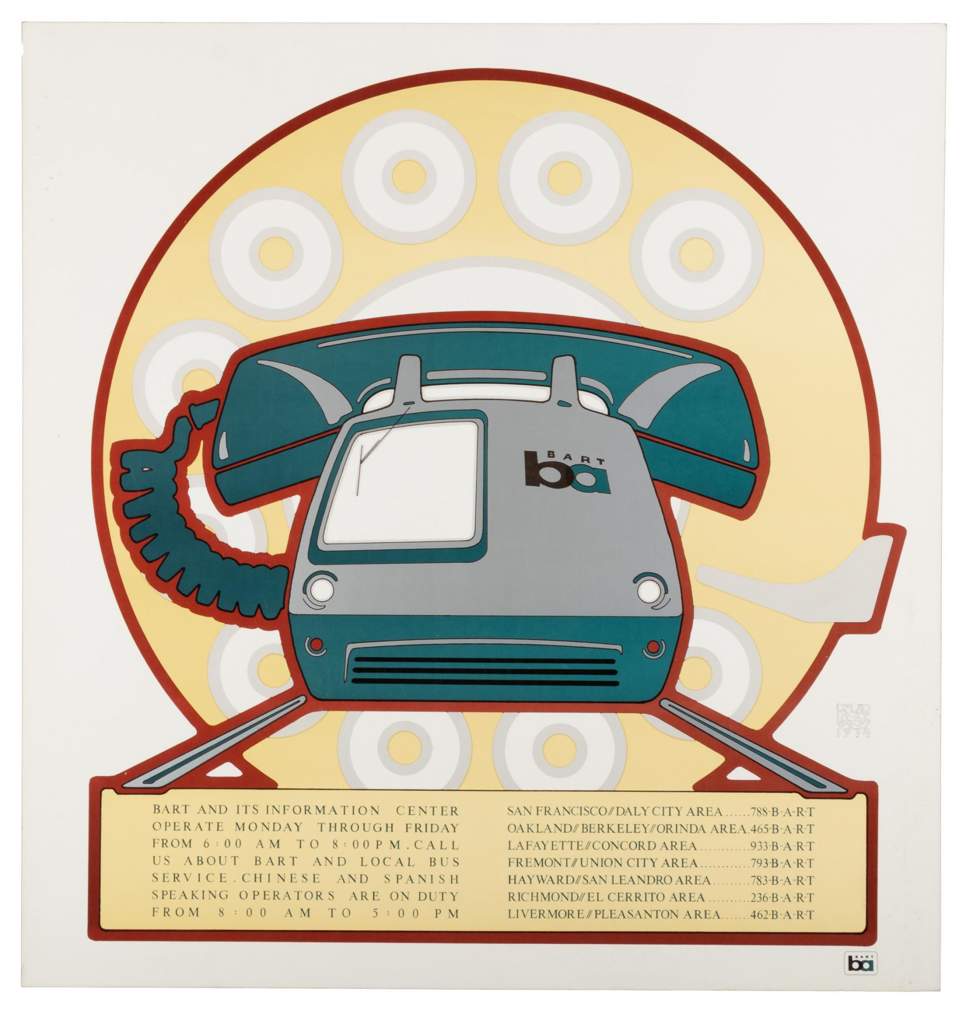 David Lance Goines' BART poster