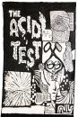 1960s Acid Test banner with original art