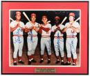 "Color photograph signed by five members of the Cincinnati Reds ""Big Red Machine"""
